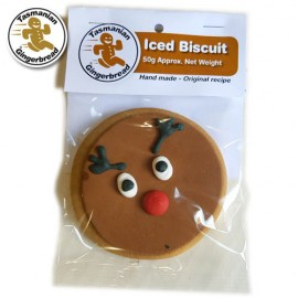 Christmas Reindeer Iced Biscuit